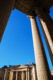 Detail mit Spalten des Pantheons in Paris Stockfotografie