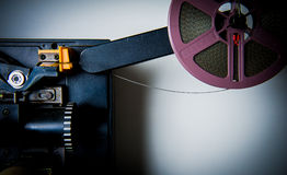 Detail of 8mm projector Royalty Free Stock Photos