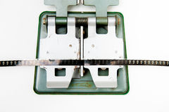 Detail of 8mm vintage splicer with film Royalty Free Stock Photo