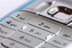 Detail of mobile phone Royalty Free Stock Photos