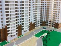 Detail of mockup beautiful modern apartment house Stock Image