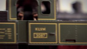 Detail of a Model Train Railway stock footage