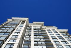 Detail of modern apartment building in Vancouver. Canada royalty free stock images