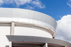 Detail of modern architecture building. On blue sky Royalty Free Stock Photos