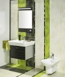 Detail of a modern bathroom interior Stock Photos