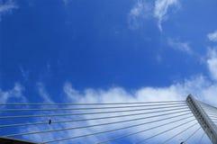Detail of modern bridge Royalty Free Stock Photos