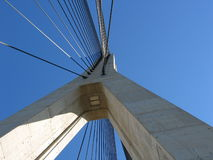 Detail of modern bridge Royalty Free Stock Photography