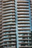 Detail of modern buidling in Dubai, UAE. Background pattern Royalty Free Stock Image
