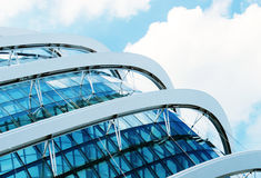 Detail of a modern building made of glass stock image
