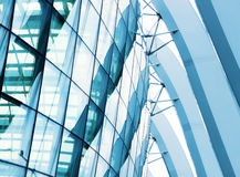Detail of a modern building made of glass Royalty Free Stock Image