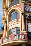 Detail of a modern building in the Renaissance style Royalty Free Stock Photos