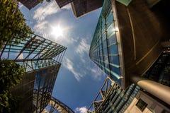 Detail of Modern Buildings In Berlin, Germany. Summer Stock Images