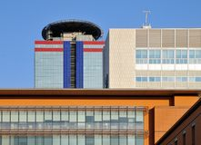Detail of modern buildings in Brescia Stock Images