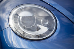 Detail of a modern car. Head light Royalty Free Stock Photography