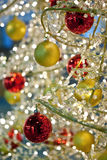 Detail of a modern Christmas tree decoration Royalty Free Stock Image