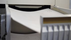 Detail of a modern digital printer of a copy center