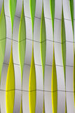 Detail of a modern facade with curved elements Stock Photography