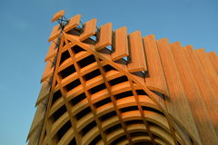 A detail of modern French architecture in Milan at the EXPO 2015. Stock Photography