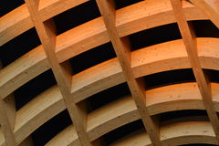 A detail of modern French architecture in Milan at the EXPO 2015. Royalty Free Stock Photos