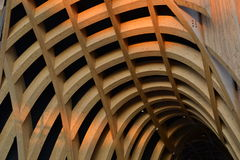 A detail of modern French architecture in Milan at the EXPO 2015. Royalty Free Stock Images