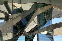 Detail of a modern glass front in Lisbon, Portugal Royalty Free Stock Images