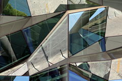 Detail of a modern glass front in Lisbon, Portugal Stock Photos