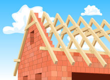 Detail Modern house under construction. Stock Image