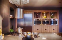 Detail of modern kitchen Royalty Free Stock Photo