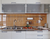 Detail of modern kitchen Stock Photos