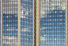 Detail of a modern office building. Detail of a shiny office building with reflection of the sky (Prague Stock Image