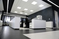 Modern office interior. Detail of the modern office interior Stock Images