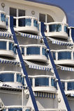 Detail of modern resort architecture building Royalty Free Stock Photo
