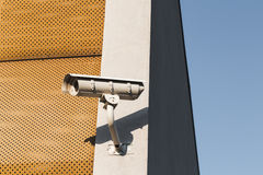 Detail of a modern security camera Stock Photos