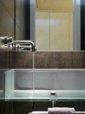 Detail of modern washbasin Stock Photos