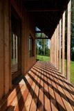 Detail of modern wooden house Royalty Free Stock Photos