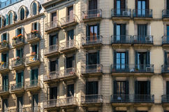 Detail of modernist residential building in Born, Barcelona, Spain. Royalty Free Stock Images