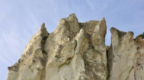 Detail of Moens Klint, limestone cliff at the east coast of Denm Stock Photo