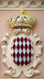 Detail of monaco. Architectural Detail from Monaco Palace Royalty Free Stock Images