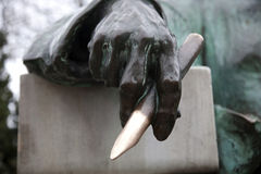 Detail from monument anonymous Stock Image