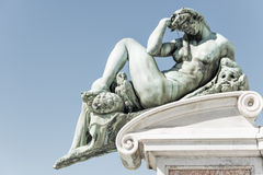 Detail of monument David Statue Royalty Free Stock Images