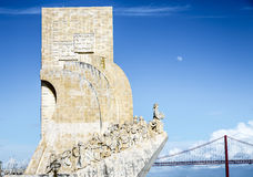 Detail of Monument Descombrimentos Lisbon, Portugal Royalty Free Stock Image