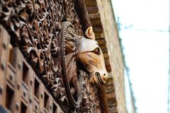 Detail monument. Horse on a door Stock Photos