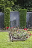 Detail of the monument in memory of the civilian victims in Malmedy. In the Ardennes in Belgium Stock Photos