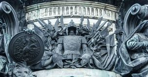Detail of monument on St Isaac`s Square, St Petersburg, Russia Stock Images