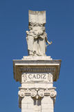 Detail of Monument to the Constitution of 1812 at Spain Square i Royalty Free Stock Image