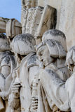 Detail from Monument to Discoveries in Lisbon, Portugal Stock Photography