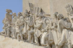 Detail of the monument to the Discoveries Stock Photos