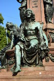 Detail of the monument to Maximilian II in Munich, Germany Stock Image