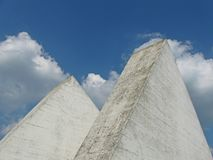 Detail of the monument of World War II, Serbia. Part of monument and monumental park Kadinjaca near Uzice town. Dedicated to the victims of the big battle WWII royalty free stock image