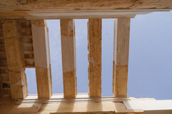Detail of the monumental gateway of the Propylaea in the Acropol Stock Photography